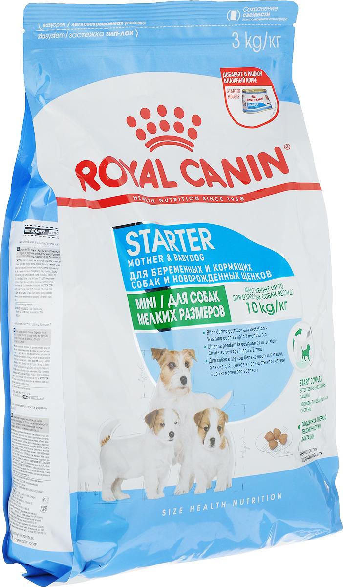 """Корм сухой Royal Canin """"Mini Starter"""", для щенков и кормящих собак мелких пород, 3 кг"""
