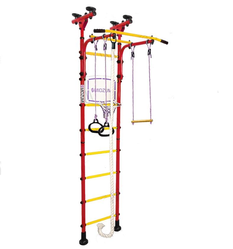 Универсальный тренажер Midzumi Детский спортивный комплекс Sima красный все цены