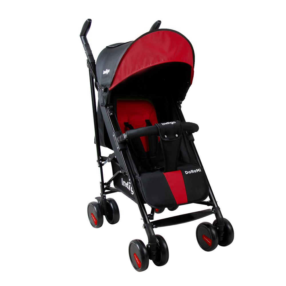 Коляска прогулочная Indigo DoReMi красный коляска трость indigo doremi 19 салатовый ут0010174