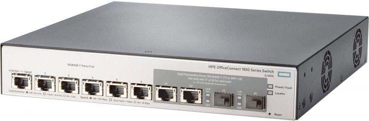 лучшая цена Коммутатор HPE OfficeConnect 1850 JL169A 6x10G 2SFP+ управляемый