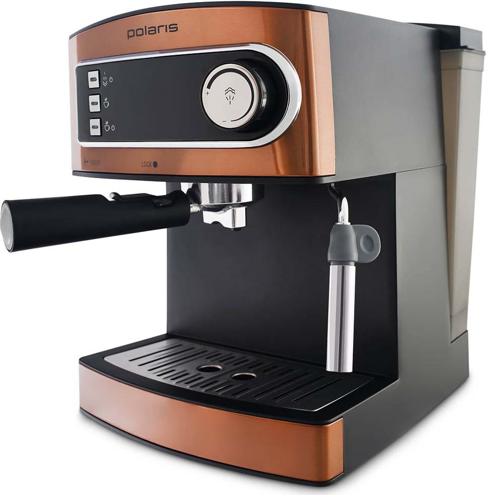 Кофеварка рожковая эспрессо Polaris PCM 1515E Adore Crema, бронзовый цены