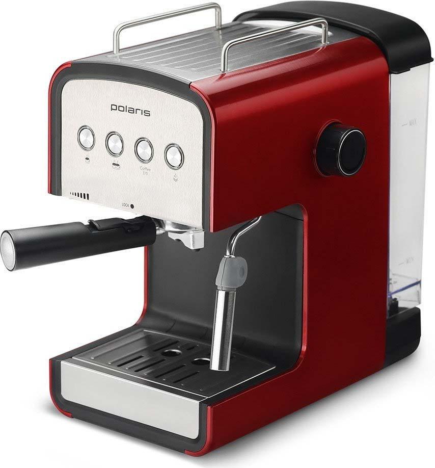 Кофеварка рожковая эспрессо Polaris PCM 1516E Adore Crema, красный цены
