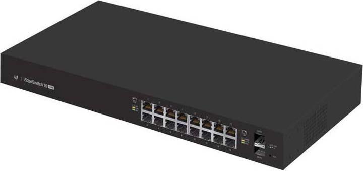 Коммутатор Ubiquiti ES-16-150W-EU 16G 2SFP коммутатор ubiquiti es 24 500w eu