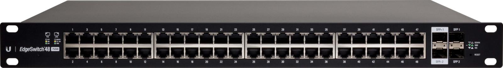 Коммутатор Ubiquiti ES-48-500W(EU) 48G 2SFP 2SFP+ 48PoE, управляемый