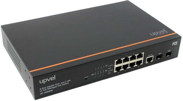 Коммутатор Upvel UP-309GEW 8G 2SFP 8PoE+, управляемый upvel up 308few 8 портовый poe коммутатор