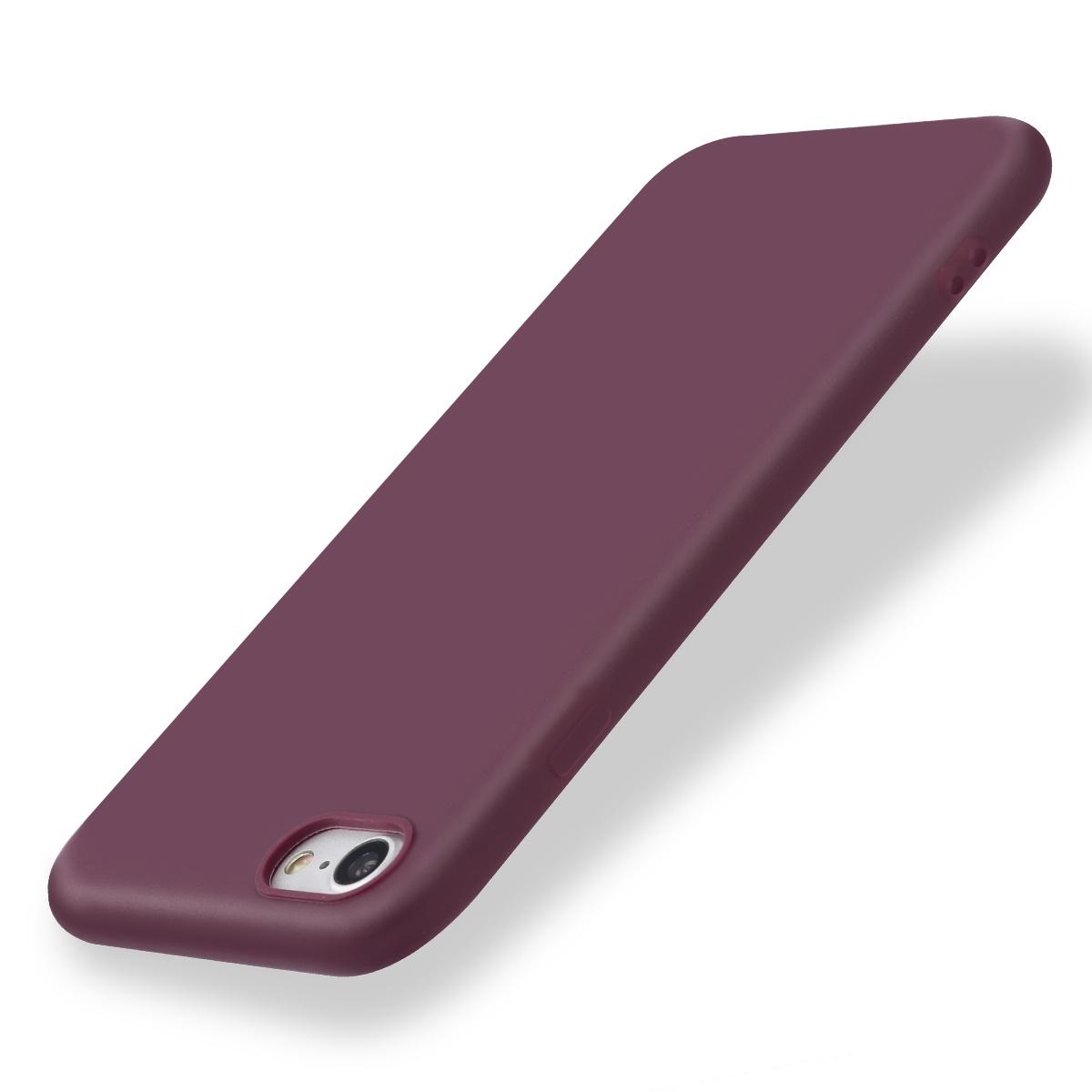 Чехол для сотового телефона Чехол для задней крышки смартфона для iPhone 5 / SE / 6 / 6s / 7 / 8 / 6 Plus / 6s Plus / 7 Plus / 8 Plus / X, бордовый чехол аккумулятор interstep power для apple iphone 6 6s 7 8 plus 5000мач черный