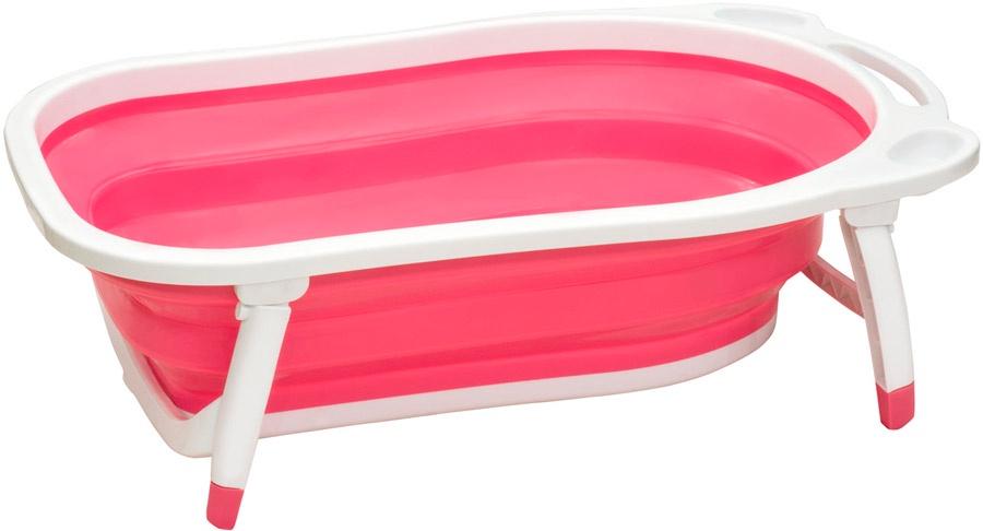 детские ванночки Детская ванна Funkids Folding Smart Bath розовый