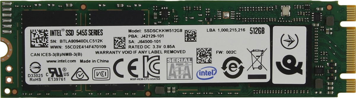 SSD диск Intel 545s, 512 ГБ intel intel серии solid state drive 120g простой пакет sata3 интерфейс ssdsc2bw120a401 530