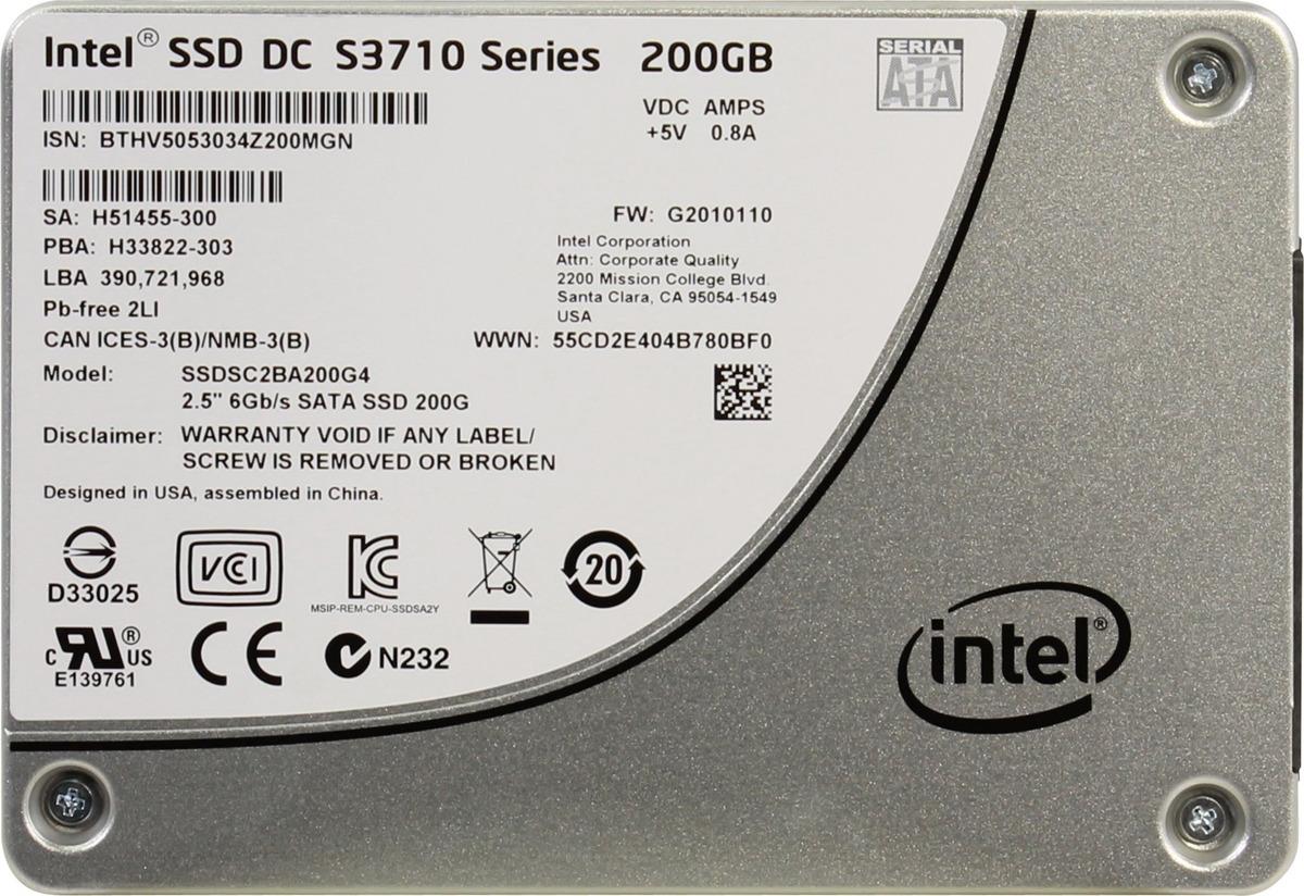 Фото - SSD диск Intel DC S3710, 200 ГБ видео