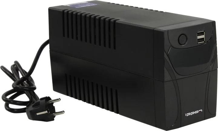 Источник бесперебойного питания Ippon Back Power Pro LCD II 400 240Вт 400ВА, черный источник бесперебойного питания ippon smart power pro ii euro 1600 960вт 1600ва черный