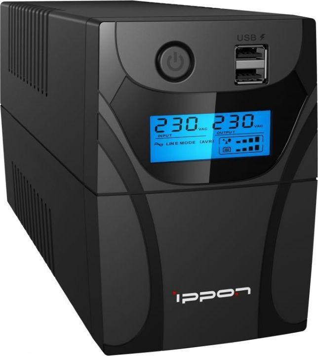 Источник бесперебойного питания Ippon Back Power Pro II 600 360Вт 600ВА, черный цена и фото