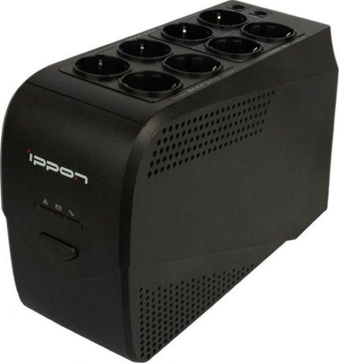 Источник бесперебойного питания Ippon Back Comfo Pro New 600 360Вт 600ВА источник бесперебойного питания ippon smart power pro ii euro 1600 960вт 1600ва черный