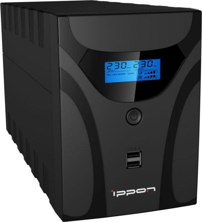 Источник бесперебойного питания Ippon Smart Power Pro II 1200 720Вт 1200ВА, черный источник бесперебойного питания ippon smart power pro ii euro 1600 960вт 1600ва черный