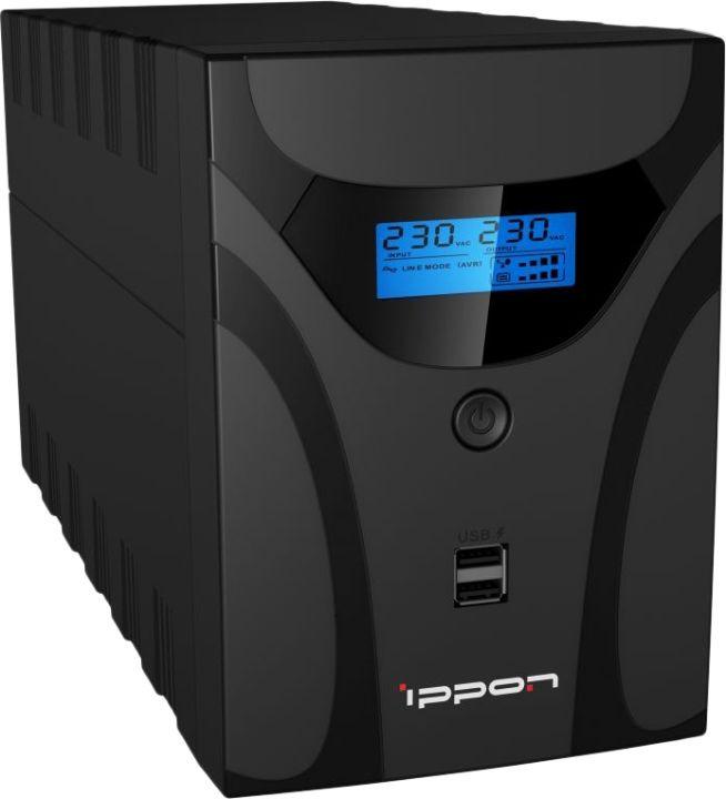 Источник бесперебойного питания Ippon Smart Power Pro II 2200 1200Вт 2200ВА, черный источник бесперебойного питания ippon smart power pro ii euro 1600 960вт 1600ва черный