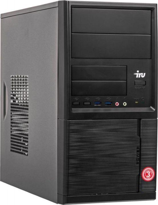 компьютер office 140 pro cel® g4900 8gb 1000gb svga win10 pro 64 bit office 2016 hb Системный блок IRU Office 110 MT, 1089257, черный