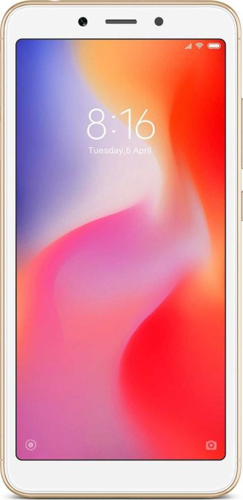 Смартфон Xiaomi Redmi 6 3/64GB gold смартфон motorola xt1925 5 g6 32gb 3gb синий моноблок 3g 4g 2sim 5 7 1080x2160 android 8 0 12mpix 802 11abgnac bt gps gsm900 1800 gsm1900 touchsc ptotect mp3 a gps microsd max128gb