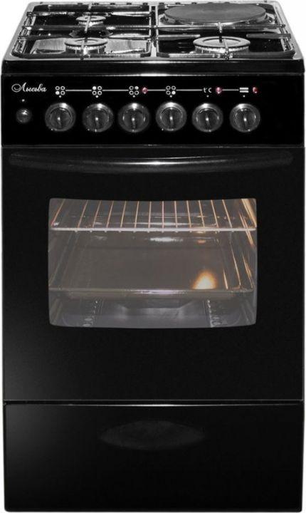 Плита Комбинированная Лысьва ЭГ 1/3г01 М2С-2у черный