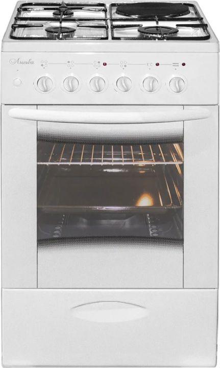 Плита Комбинированная Лысьва ЭГ 1/3г01 М2С-2у белый