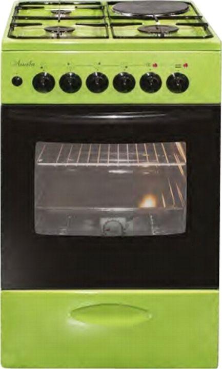Плита комбинированная Лысьва ЭГ 1/3г14 МС-2у, без крышки, зеленый