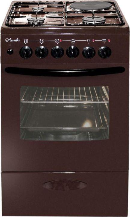 Плита комбинированная Лысьва ЭГ 1/3г14 МС-2у, без крышки, коричневый