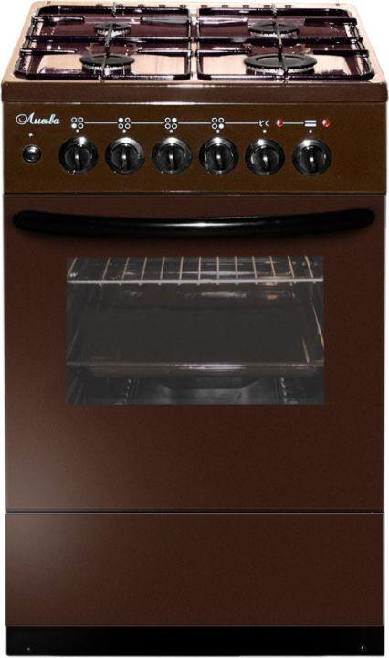 Плита комбинированная Лысьва ЭГ 404 М2С-2у, стеклянная крышка, коричневый