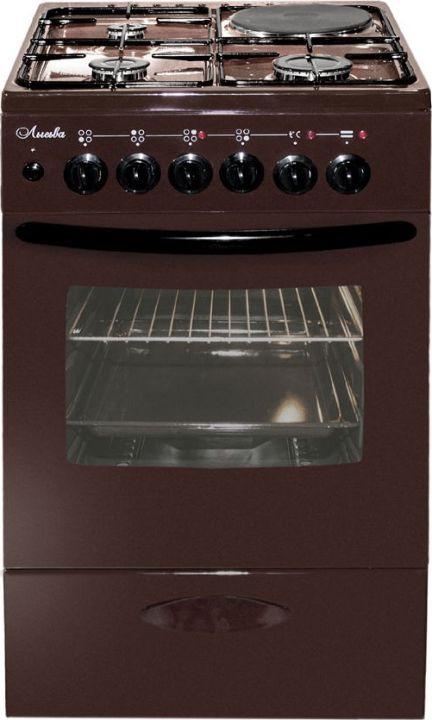Плита комбинированная Лысьва ЭГ 1/3г14 М2С-2у, стеклянная крышка, коричневый плита комбинированная лысьва эг 404 м2с 2у стеклянная крышка коричневый