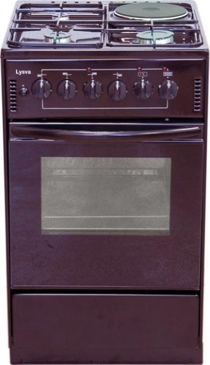 Плита электрическая Лысьва ЭП 4/1э04 МС, без крышки, вишневый эмаль
