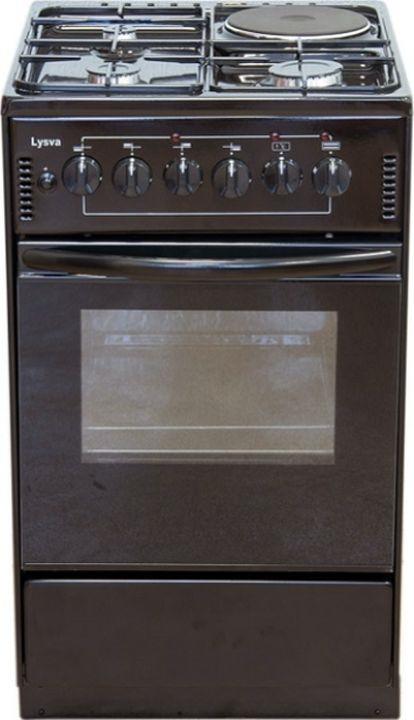 Плита электрическая Лысьва ЭП 4/1э04 МС, без крышки, коричневый эмаль