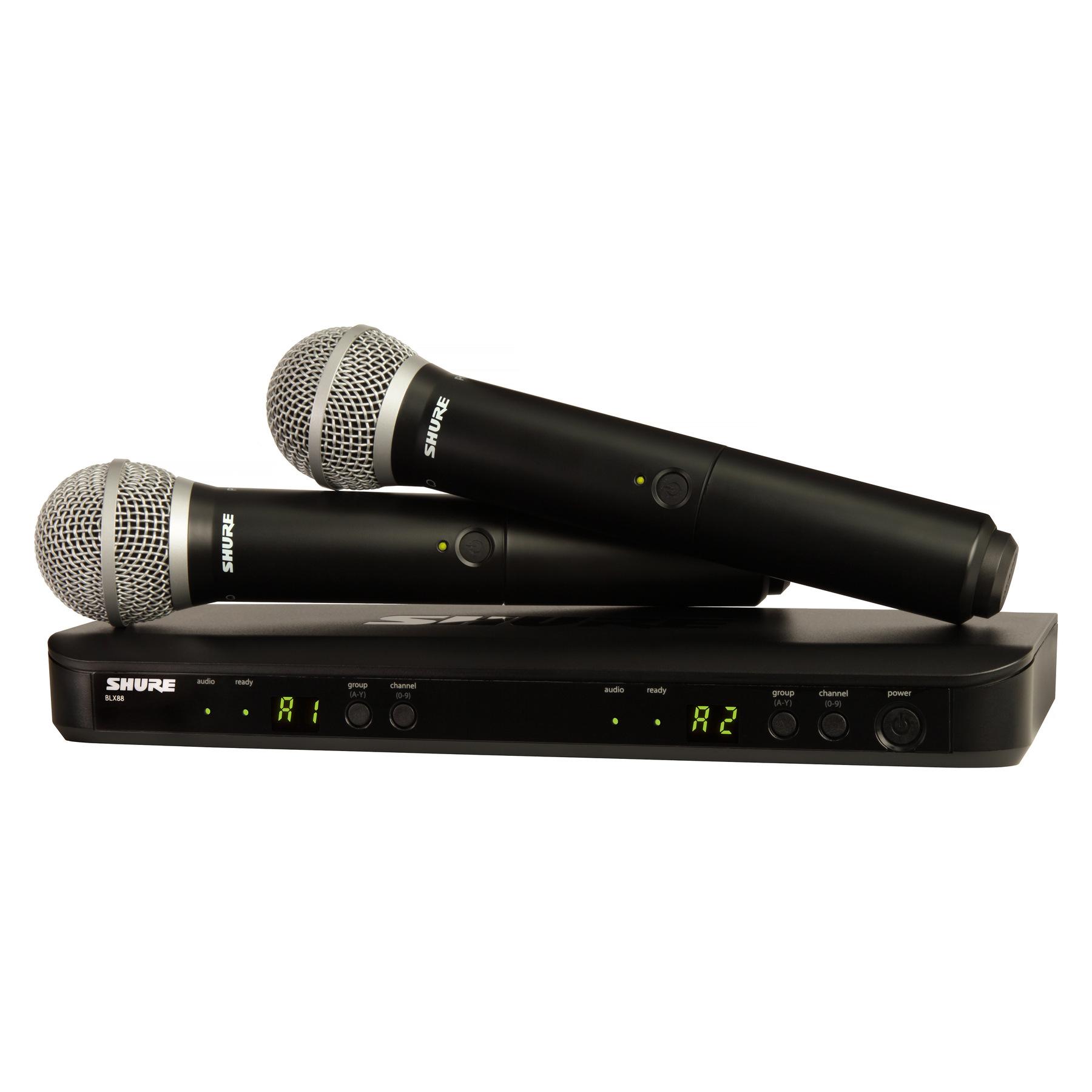 Микрофон Shure BLX288E/PG58, черный цена и фото