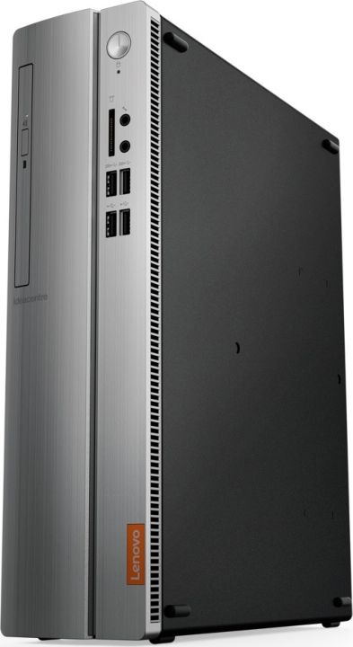Системный блок Lenovo IdeaCentre 310S-08IAP SFF, 90GA000NRS, черный, серебристый компьютер lenovo ideacentre 310s 08iap intel pentium j4205 ddr3 4гб 500гб intel hd graphics 505 dvd rw cr free dos черный и серебристый [90ga000drs]