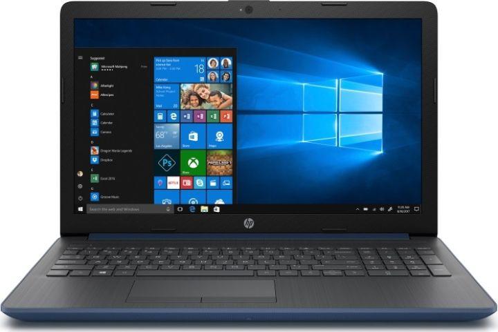 15.6 Ноутбук HP 15-da0118ur 4JW96EA, синий ноутбук цена качество