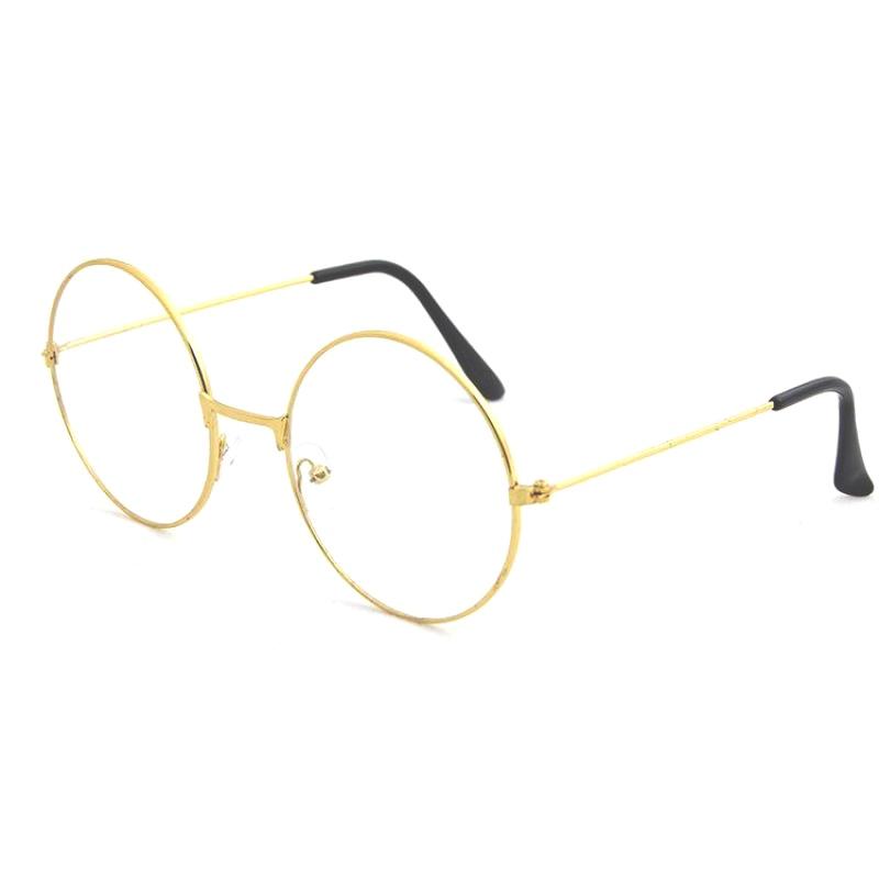 Оправа Круглые очки в металлической оправе, золотой