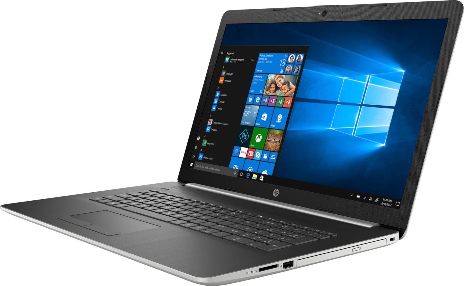 цена на 17.3 Ноутбук HP 17-by0019ur 4KH59EA, серебристый