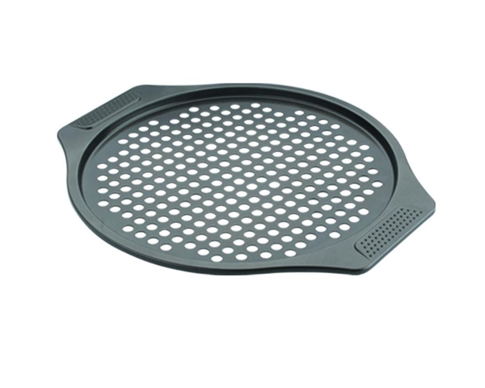 Форма для пиццы Dekok из углеродистой стали 0,8 мм. с антипригарным покрытием, черный