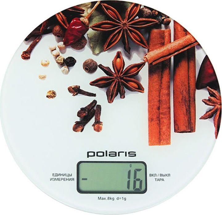 Весы кухонные электронные Polaris PKS 0834DG, белый