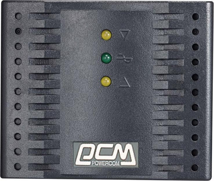 Стабилизатор напряжения Powercom TCA-2000 1000Вт 2000ВА, черный стабилизаторы напряжения