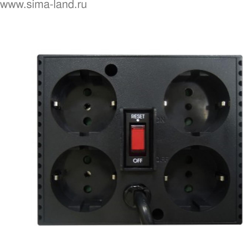 Стабилизатор напряжения Powercom TCA-2000 1000Вт 2000ВА, черный Powercom
