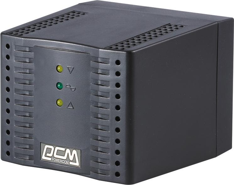 Стабилизатор напряжения Powercom TCA-3000 1500Вт 3000ВА, черный стабилизаторы напряжения