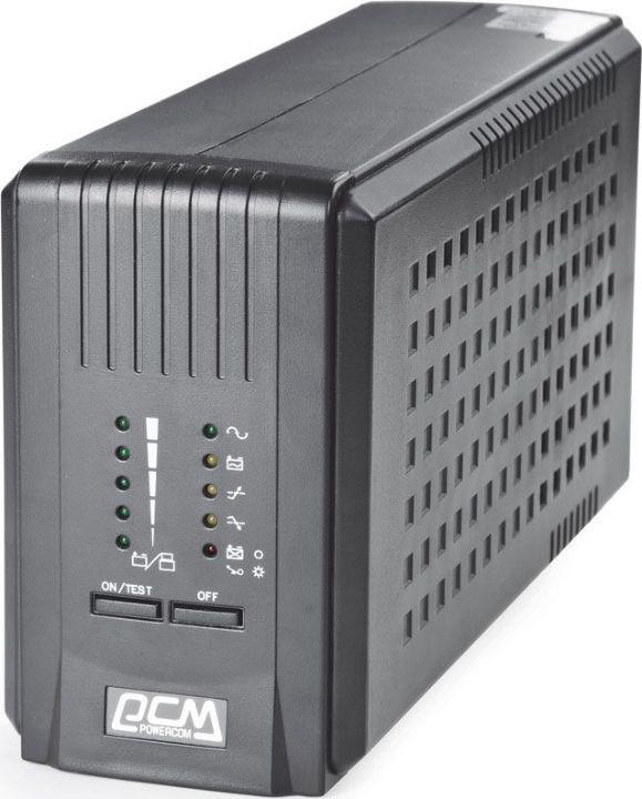 Источник бесперебойного питания Powercom Smart King Pro+ SPT-500 350Вт 500ВА, черный источник бесперебойного питания powercom mas 2000 black