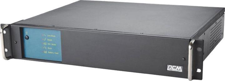 Источник бесперебойного питания Powercom King Pro RM KIN-1200AP RM 720Вт 1200ВА, черный недорго, оригинальная цена