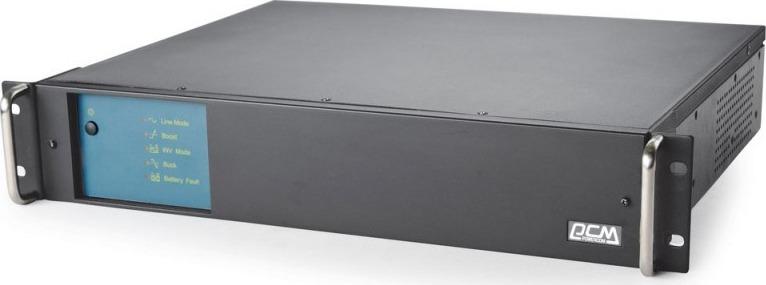 Источник бесперебойного питания Powercom King Pro RM KIN-2200AP RM 1320Вт 2200ВА, черный недорго, оригинальная цена