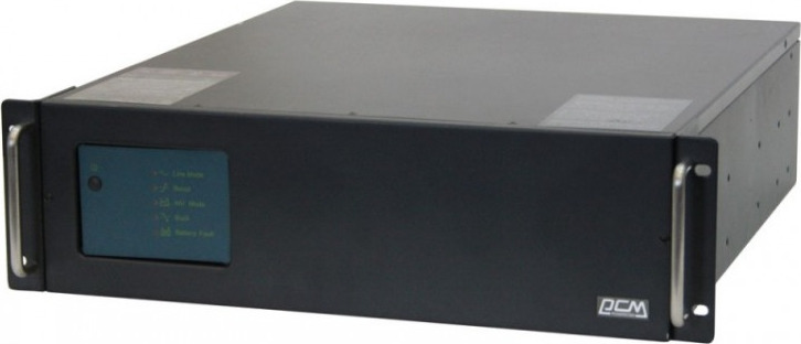 Источник бесперебойного питания Powercom King Pro RM KIN-3000AP RM 1800Вт 3000ВА, черный недорго, оригинальная цена