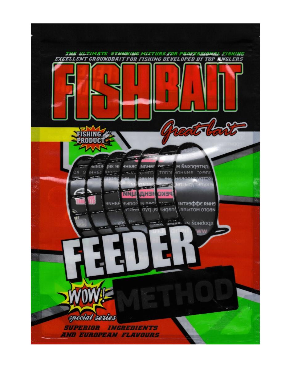 Аксессуар для рыбалки FISHBAIT Прикормка Feeder method, Fish Meal - рыба, вес 1кг., коричневый