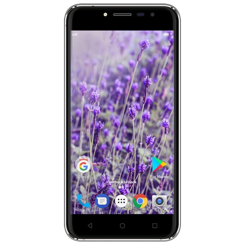 Смартфон Turbo X 5 Black, 2/16 Гб, 4G, черный цена 2017