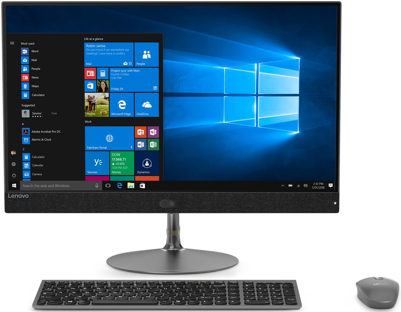 Моноблок Lenovo IdeaCentre 730S-24IKB, F0DY001QRK, 23.8, темно-серый моноблок lenovo v510z 10nq001qru 23 темно серый