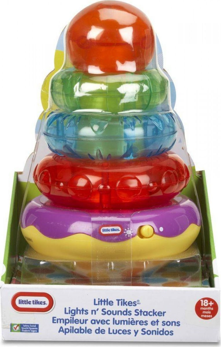 Пирамидка Little Tikes №2, 636387M фигурки игрушки little tikes игрушка развивающая вращающийся осьминог