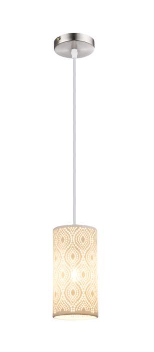 Подвесной светильник Globo New 1591715917Подвесной светильник Globo 15917 серии Cendres в современном стиле освежит ваш интерьер. Размеры (Диаметр х Высота) 100х1200 мм. Под 1 лампу с цоколем E27.