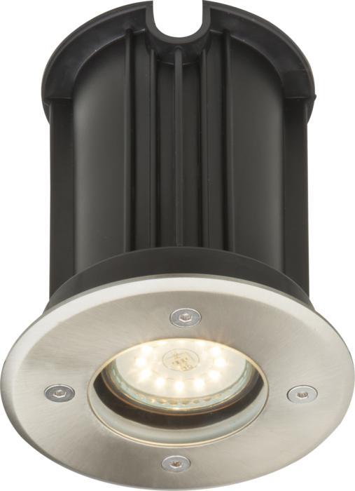 Уличный светильник Globo New 3110031100Уличный встраиваемый светильник Globo 31100 серии Style Ii в современном стиле придаст изюминку вашему дворику. Размеры (Диаметр х Высота) 110х120 мм. Под 1 лампу с цоколем GU10.