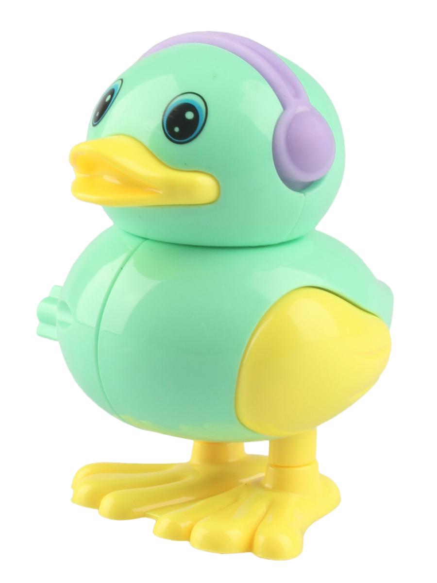 Заводная игрушка L.A.G. 1206047 зеленый4605180443324Веселая игрушка Jumping duck выполнена в виде очаровательной уточки и оснащена заводным механизмом, который достаточно просто приводить в действие. Если несколько раз провернуть ручку, расположенную на крыле игрушки, а затем поставить на гладкую поверхность, например, стол или пол, она начнет забавно прыгать, пока не закончится завод. Это можно повторять бесконечно, но главное - это не переусердствовать с количеством поворотов ручки.