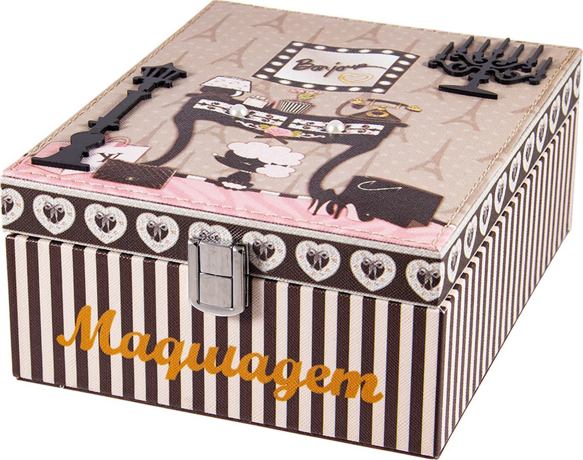 Шкатулка для хранения Русские подарки, 84329, мультиколор, 18 х 23 х 10 см набор для рукоделия русские подарки веселый новый год